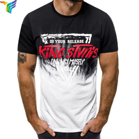 Plain Custom Logo Printed Cotton T-Shirt White Plain Men Tshirt with Logo