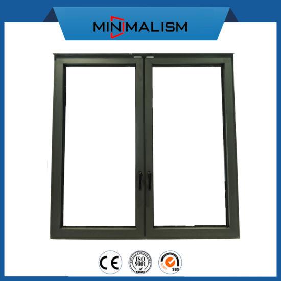Awning Window Aluminium Casement Windows with Clear Glas Double Glazing