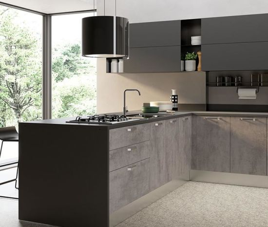 China Lacquer Cabinets Modern Kitchen Black Flat Panel Kitchen Cabinetry China Furniture Kitchen