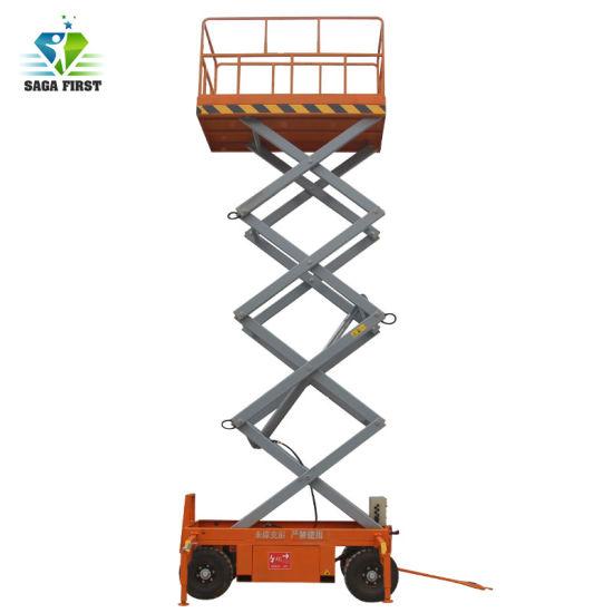 300kg Mobile Scissor Lift Hydraulic Lifting Platform Table Trolley Cart Truck