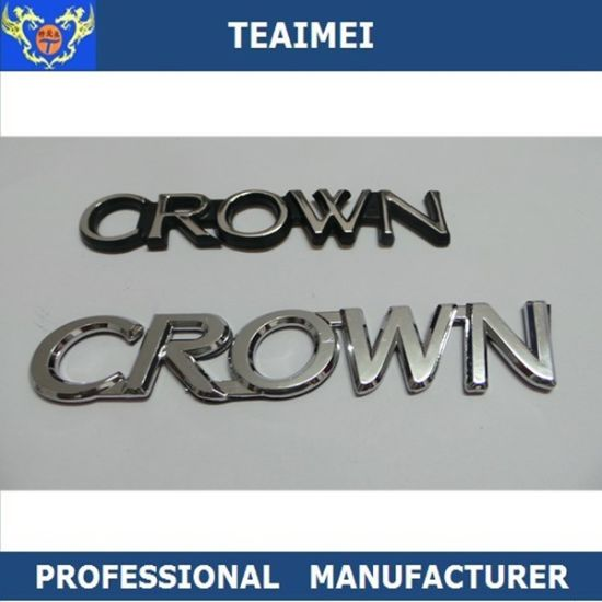 Custom ABS Car Logo Chrome Letter Sticker Car Emblems Badges