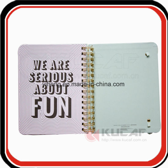 Gold Wire O Hardcover Pocket Index Tab Divider Weekly Journal Planner Writing Notebook pictures & photos