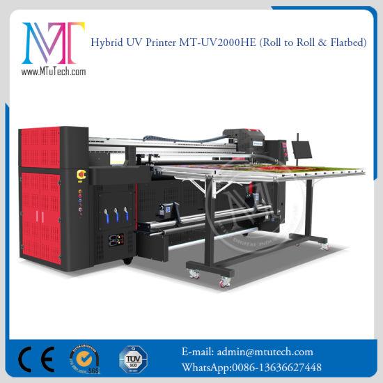 2 Meters Large Format Inkjet Printing Machine Flatbed and Roll to Roll LED UV Printer Digital Printer