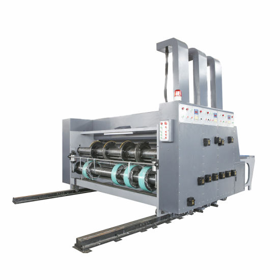 Semi Automatic Double Color Printing Slotting Machine