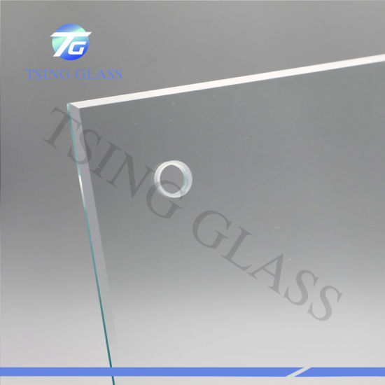 4-19mm Flat Curved Tempered Toughtened Safety Glass Bulletproof Glass for Pool Fence, Table Top, Shower Door/ Windows/Food Equipment