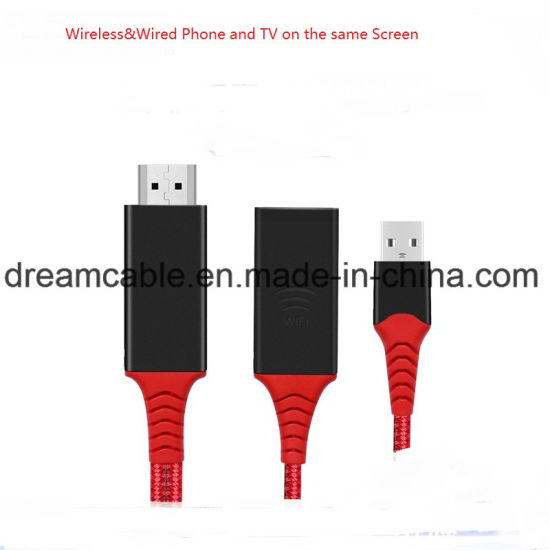2 in 1 Cast Cable Display Dongle for Android Phone/iPhone