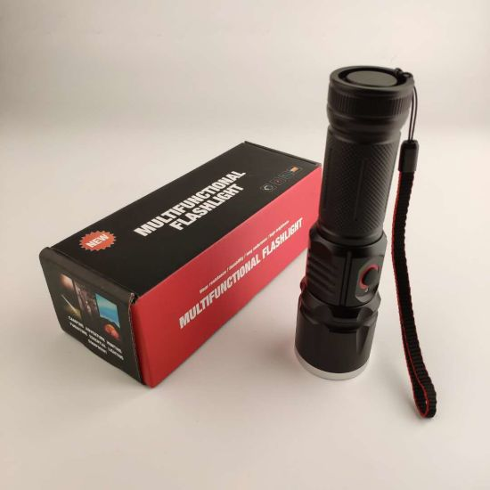 New! Jff80 T6//L2/T20 USB Charging 18650 26650 AAA Battery LED Flashlight for Emergency