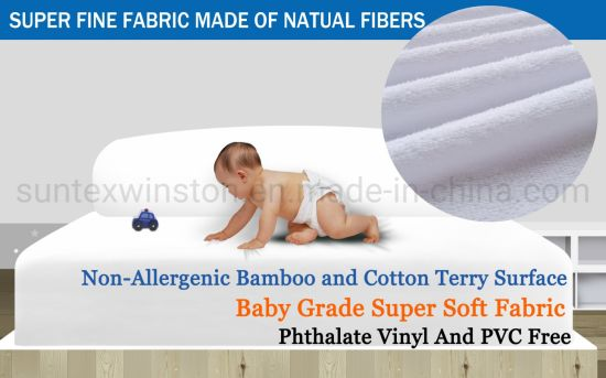 Bamboo Cotton or Polyester Knitted Waterproof Mattress Encasement pictures & photos