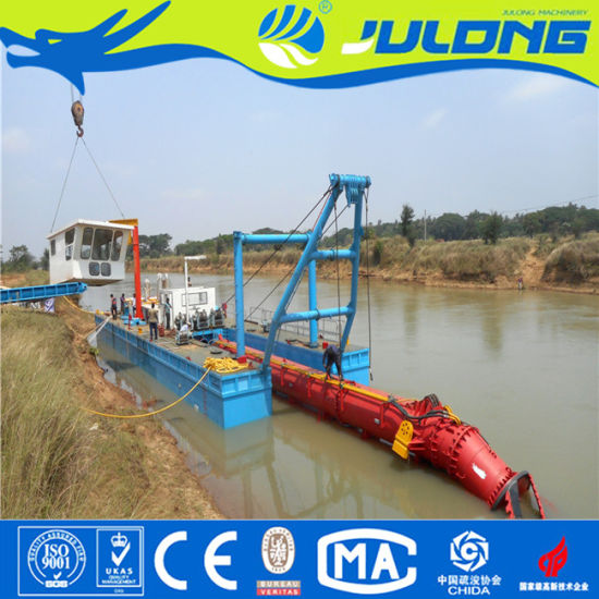 Hot Selling 1200m3/Hr China Julong Sand Suction Dredger