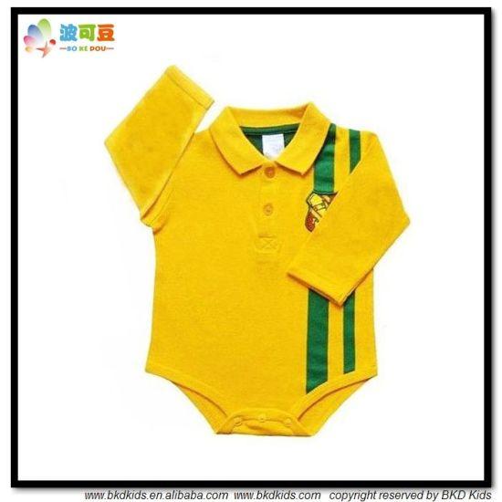 Soft Cotton Baby Garment Polo-Neck Babies Onesie