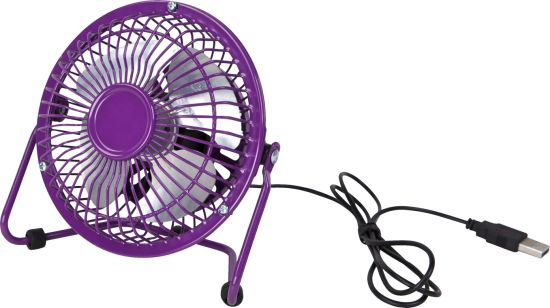 "4"" USB Fan, Mini Fan-Purple pictures & photos"