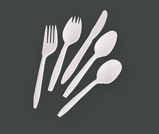Popular PP 2.5g Medium Weight Plastic Cutlery Set