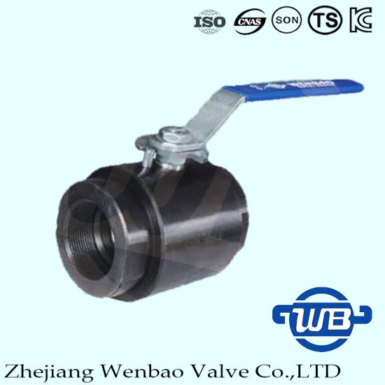 2PC High Pressure Forging Floating Ball Valve with Manual Handle pictures & photos
