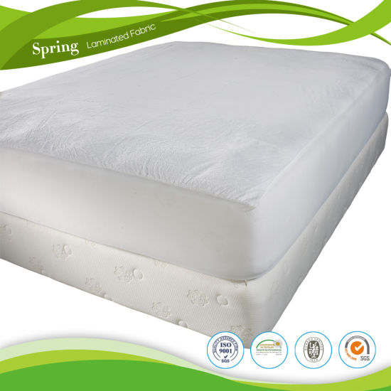 Adult Polyester Knitted Waterproof Mattress Cover with Zipper pictures & photos