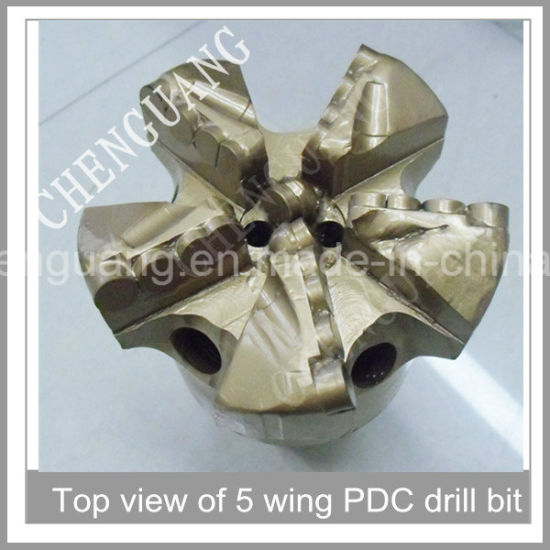 Steel Body Five Wings Concave Diameter 200mm PDC Drill Bit