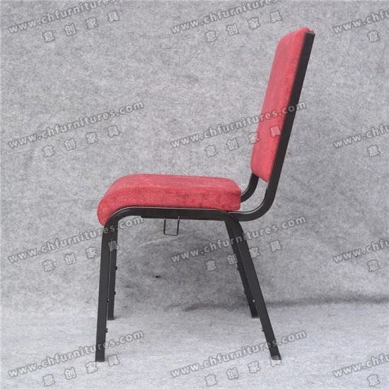 Incredible Yc G71 1 Comfortable Red Cover Fabric Stacking Metal Church Chairs Machost Co Dining Chair Design Ideas Machostcouk