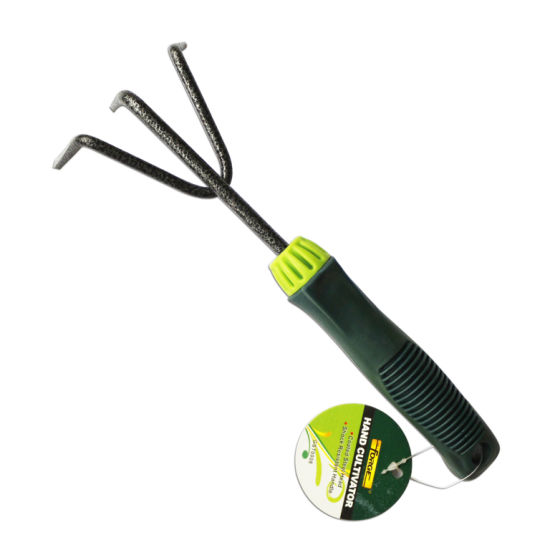 Garden Tools Q235 Carbon Steel Hand Rake Hand Cultivator With Plastic Handle