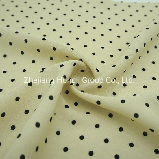 100%Polyester Polka Dots Dobby Ggt Chiffon Quality Fashion Fabric