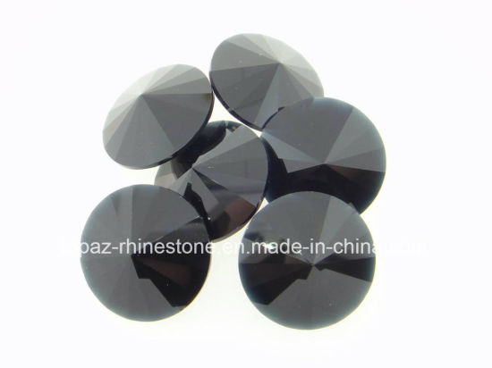 Rivoli 8mm-18mm Jet Hematite Flat Back Rhinestone Sew on Crystals (SW-Rivoli 8-18mm jet hematite) pictures & photos