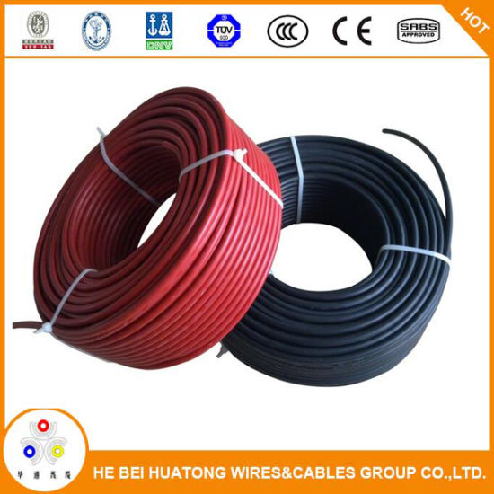10 AWG Solar Panel Wire 10/' Power Cable UL 4703 Copper MADE IN USA PV Gauge Red
