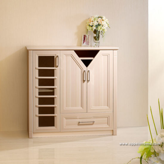 Oppein Simple Beige Small Wood Shoe Cabinet (XG11210A119)