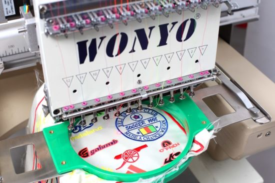 Multi Head Flat T-Shirt Cap Computerized Embroidery Machines with 2 to 12 Heads pictures & photos