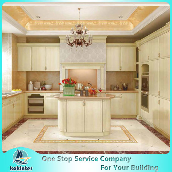 MDF/MFC/Plywood Particle Board European Kitchen Cabinets of Kok004