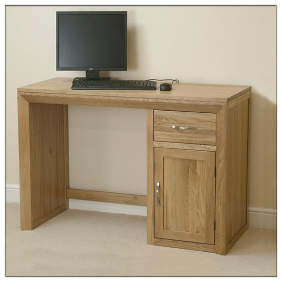 Living Room Solid Oak Wood Computer Desk