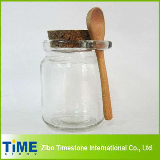 China 8oz 250ml Thick Clear Glass Storage Jar With Cork Lid China