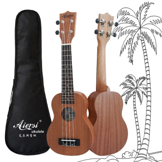 Wholesale Cheap Price 21 Inch Soprano Mahogany Ukulele for Sale pictures & photos
