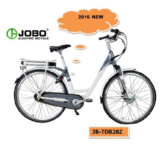 700c Rear Rack Battery Electric City Bike Moped with Pedals with 36V 250W Motor (JB-TDB28Z) pictures & photos