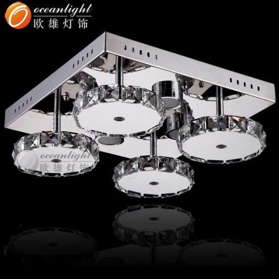 Crystal Ceiling Lamp Modern Square LED Ceiling Light