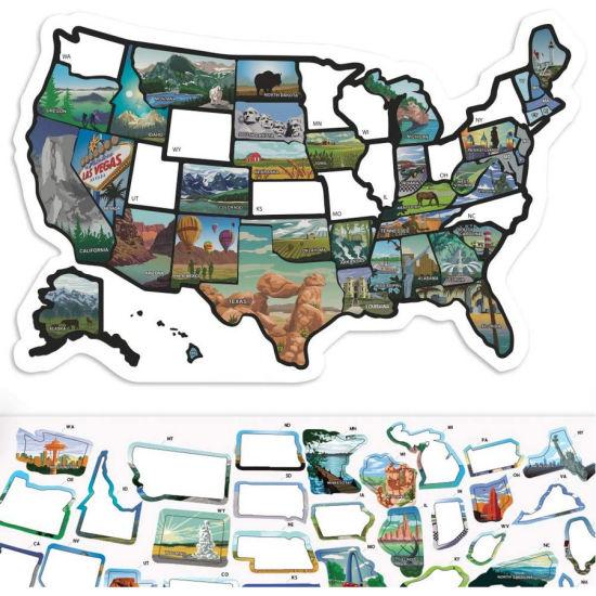 USA States Visited Decal RV State Sticker Travel Map Sticker