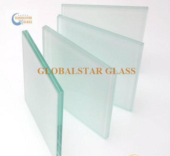 6.38mm, 8.38mm, 10.38mm Clear PVB/ Milk White PVB Laminated Glass/ White Laminated Glass/ Black Laminated Glass/ Blue Lamianted Glass/ Blue Green Glass