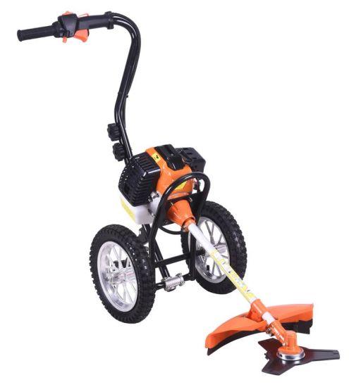 2 Stroke 52cc Wheeled Brush Cutter /Handpush Brush Cutter /Hand Push Brush Cutter Tkst520-B