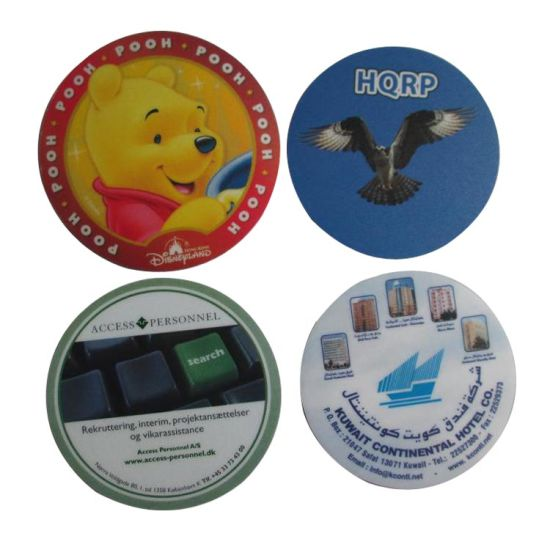 Promotional Coaster with Customized Logo Design pictures & photos