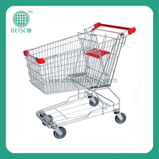 Metal Grocery Shopping Cart Trolley