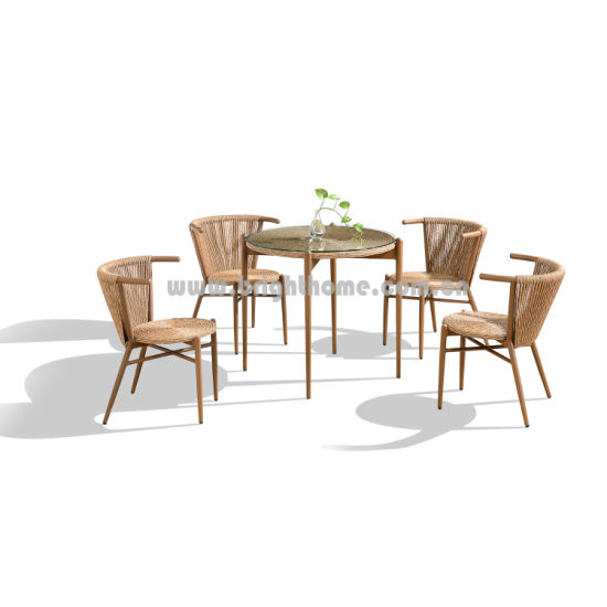 Best Price High Quality Stackable Chair and Dining Table Outdoor Wicker Patio Furniture