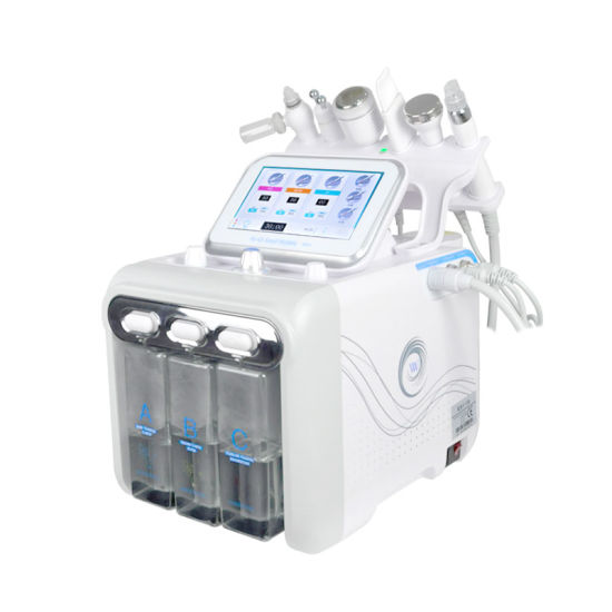 Beauty Salon Popular Face Beauty Device 6 in 1 Small Bubble H2O2 Facial Skin Care SPA pictures & photos
