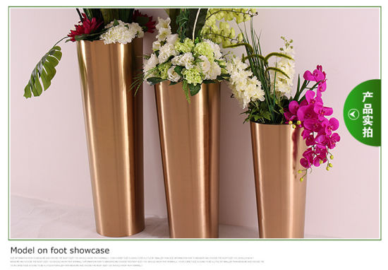 Thanksgiving Day Decoration Materails Stainless Steel Flower Vases for Home & Hotel pictures & photos
