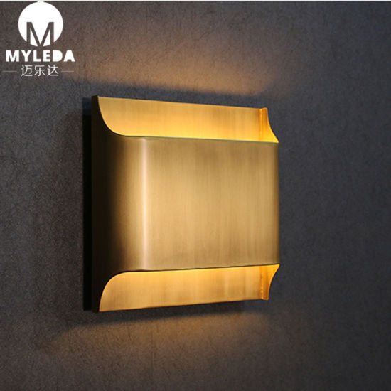 Modern Bronze Finish LED up Down Wall Sconce Light