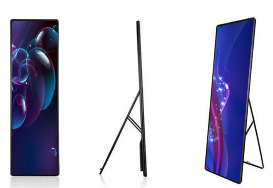 640*1920mm Digital LED Billboard Indoor with Free Standing Poster Structure 3840Hz Refresh
