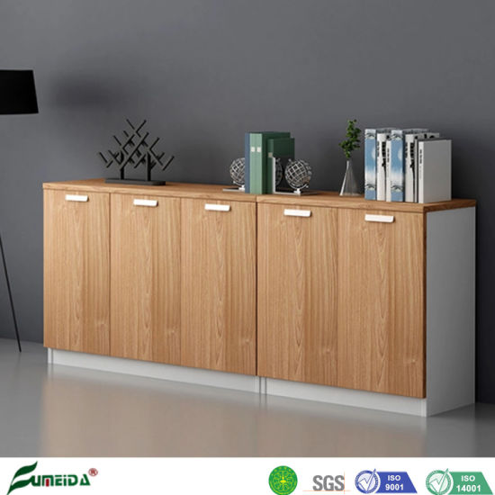 China Modern Wooden Storage Melamine Board Office Side Unit