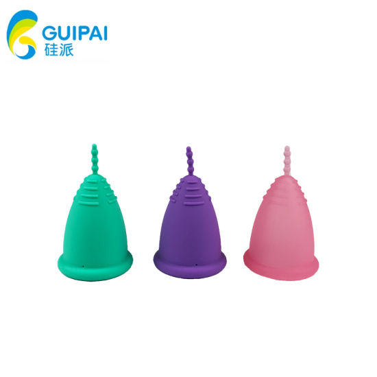 Lady Girl No Spill Organic Silicone Period Cup Collapsible Silicone Menstrual Cup