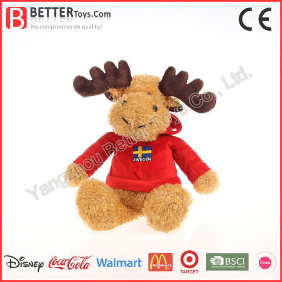 Soft Christmas Gift Decorations Plush Reindeer Kids Toy pictures & photos