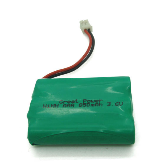 3.6V Rechargeable NiMH Battery Pack H- AAA 850mAh*3