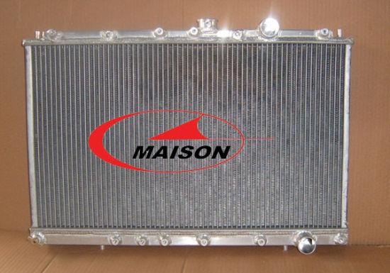 "Aluminum Radiator For Mitsubishi Eclipse Turbo 95-99 98 MANUAL 2* 10 /"" Fan"