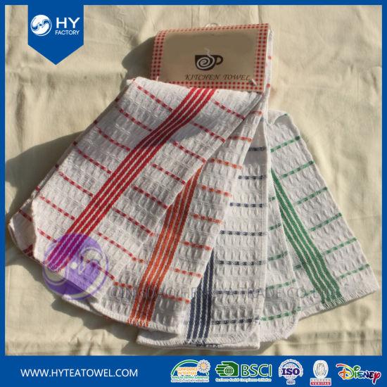 China Wholesale Cheap 100 Cotton Waffle Weave Dish Towel China Towel And Tea Towel Price