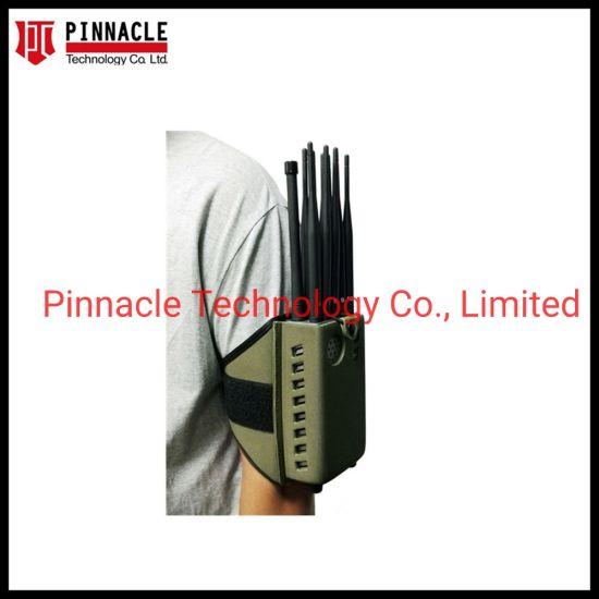 12 Antenna with 2hrs Battery Handheld Wi-Fi Bluetooth Signal Jammer GPS Signal Blocker/ VHF UHF 2g 3G 4G 5g 3.6g 5.8g Cellular Phone Jammer