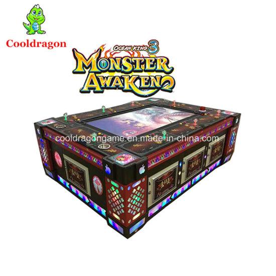 Monster Awaken Fish Hunter Arcade Games Shooting Fishing Game Table  Gambling Machine